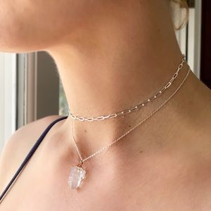 "13.5"" Sterling Silver Chain Choker"